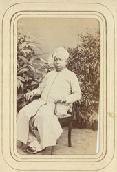 TRAVANCORE: Rama Varma, Maharaja of Travancore (1832-1880).
